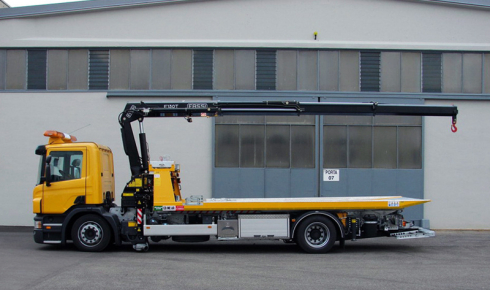 Fassi F130T crane for vehicle recovery