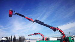 Fassi crane with basket for PLE use