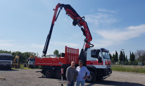 Fassi F545RA.2.26 for especial transport