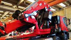 Fassi F1650RA crane in PEM '18 awards knuckleboom crane