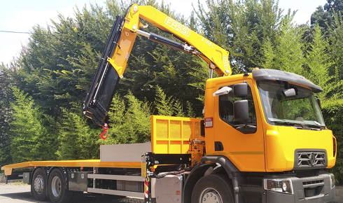 Machinery carrier + Fassi F155AC.0.24