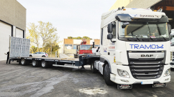 De Angelis 3S425 semi low-loader delivery to a Tramox
