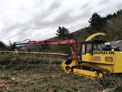 L80T forestry crane on tractor