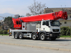68,5 m telescopic aerial platform with jib
