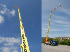 75,1 m telescopic aerial platform with jib