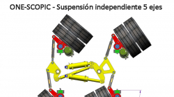 One-Scopic independent suspension for 5 axle semitrailers
