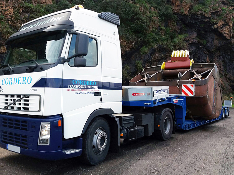 3 axle low bed semitrailer